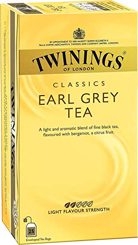Twinings - Té Earl grey 25 bolsillos x 2 g = 50 g