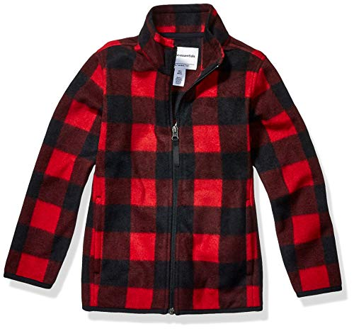 Amazon Essentials Zip-up Fleece Jacket Chaqueta, Exploded Red Buffalo Check, 3T