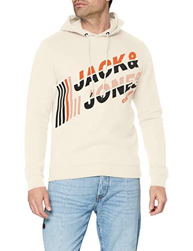 Jack & Jones JCOALPHA Sweat Hood FST Sudadera con Capucha, Abedul Plateado, XL para...