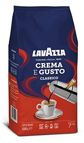 Lavazza Café en Grano Tostado Crema e Gusto, Café Espresso Arábica y Robusta,...