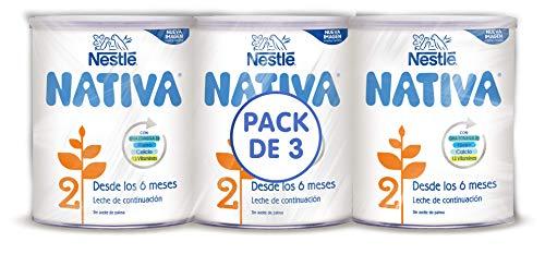 Nestlé NATIVA 2- Leche de continuación en polvo- Fórmula para bebés- A partir de...