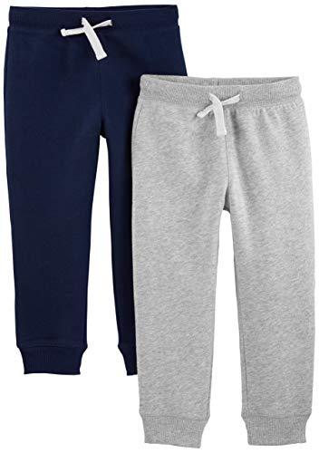 Simple Joys by Carter's pantalones de forro polar para niños pequeños, paquete de 2...