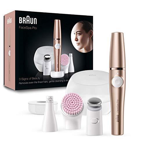 Braun FaceSpa Pro 921 - Depiladora Facial TodoenUno para Mujer, Incluido un...