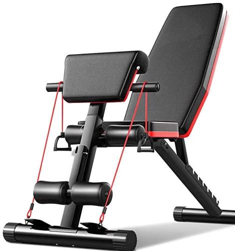 LAZY SPORTS Banco de Pesas para Fitness, Banco de Musculación Multifunción para...
