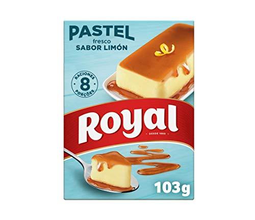 Royal Pastel Fresco Sabor Limón con Caramelo Líquido 8 Raciones, 103g