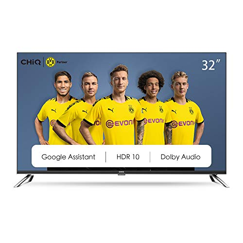 CHiQ Televisor Smart TV LED 32', Android 9.0, HD, WiFi, Bluetooth, Google Play Store,...