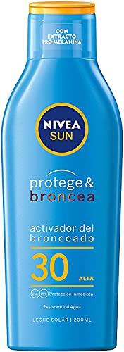 Nivea Sun Protege & Broncea Leche Solar Activadora del Bronceado FP30, 200ml