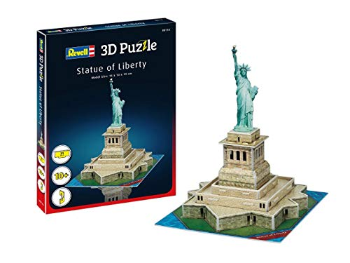 Revell- Estatua de la Libertad New York 3D Puzzle, Multicolor (00114)
