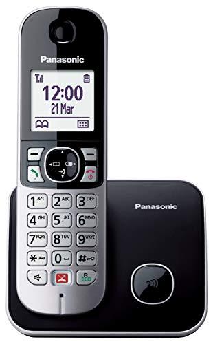 Panasonic KX-TG6851SPB Teléfono Fijo Inalámbrico Digital (Bloqueo de Llamadas,...