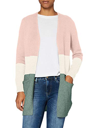 Only ONLQUEEN L/S Long Cardigan KNT Noos Suter crdigan, Rosa: Smoke/Stripes:w....