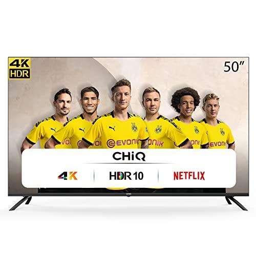 CHiQ Televisor Smart TV LED 50 Pulgadas 4K UHD, HDR 10/HLG, WiFi, Bluetooth (Solo...