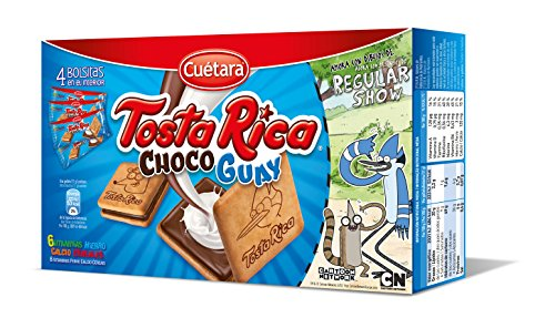 Cuétara - Tosta Rica Choco Guay - Galletas Sándwich Rellena de Crema de Leche - 168...