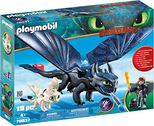 PLAYMOBIL DreamWorks Dragons Hipo y Desdentao con Bebé Dragón, a Partir de 4 Años...
