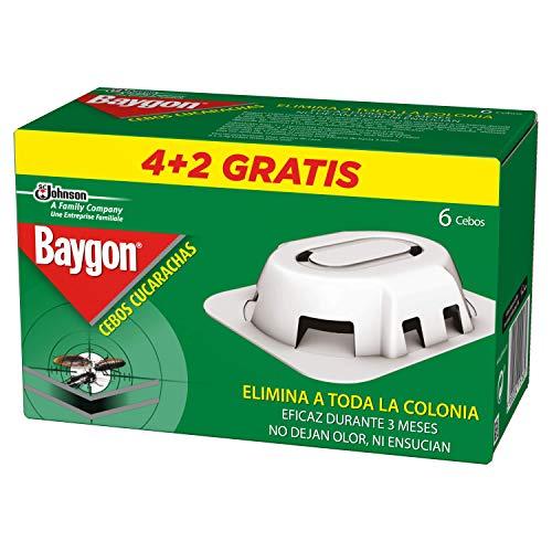 Baygon Trampas - Cebo para Cucarachas, 3 Meses de Protección, Máxima Eficacia,...