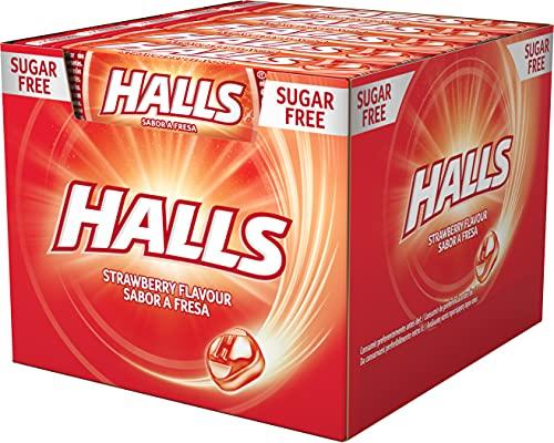 Halls Fresa - Caramelo duro - Caja con 20 Sticks de 32 g