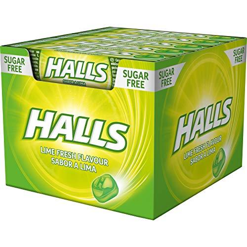 Halls Lima - Caramelo duro - Caja con 20 Sticks de 32 g