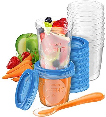Philips Avent - Juego de recipientes para comida de bebé (20 recipientes + 1 cuchara...