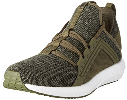 Puma Mega NRGY Knit, Zapatillas de Cross Hombre, Verde (Olive Night- Black), 40.5 EU