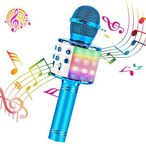 ShinePick Micrófono Karaoke Bluetooth, Microfono Inalámbrico Karaoke Portátil con...