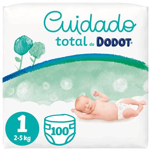 Dodot Pañales Bebé Cuidado Total Talla 1 (2-5 kg), 100 Pañales, Suave Protección...