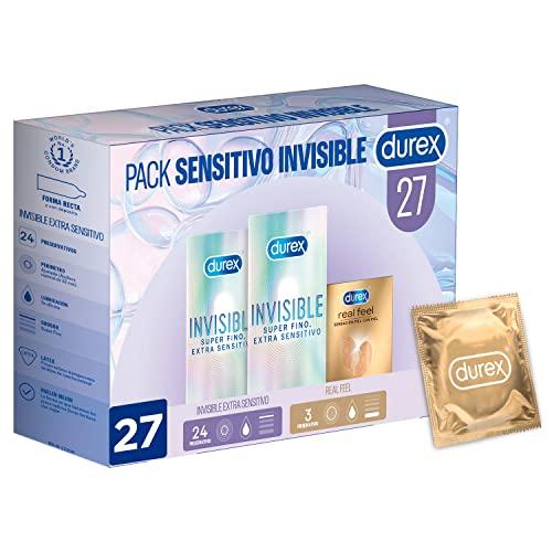 Durex Pack Sensitivo Invisible - Preservativos Durex Invisible Extra Sensitivo + Real...