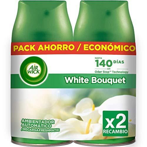 Air Wick Ambientador Freshmatic Max Recambio Duplo White Bouquet, 500 ml