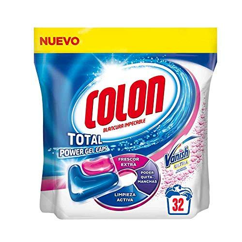 Colon Total Power Gel Caps Vanish - Detergente para lavadora con agentes...