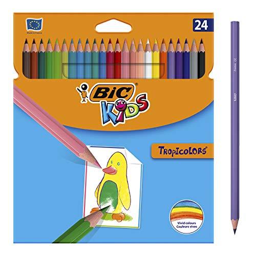 BIC Kids Lápices de Colores para Niños, Óptimo para material escolar,Tropicolors,...