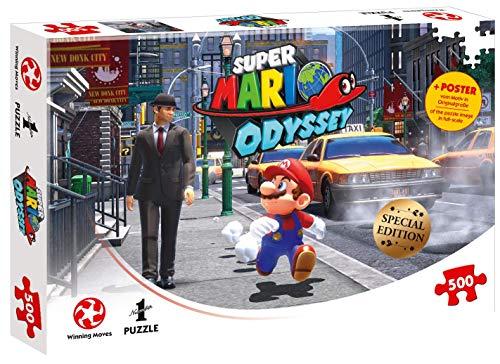 Winning Moves Puzzle Super Mario Odyssey New Donk City, 500 piezas