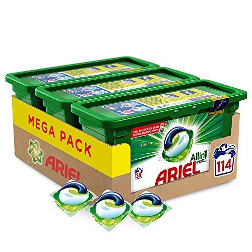 Ariel Allin1 Pods Original - Detergente en cápsulas para la lavadora, 114 lavados (3...