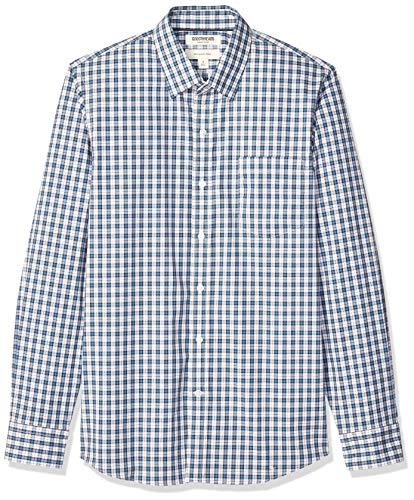 Marca Amazon - Goodthreads - Camisa cómoda de popelín elástico con manga larga,...