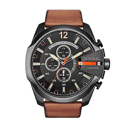 Diesel Reloj Hombre de Analogico con Correa en Cuero DZ4343