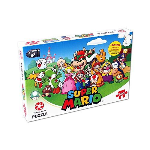 Puzle de 500 Piezas de Super Mario and Friends - Top Trumps - Rompecabezas para...