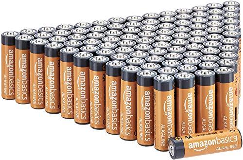 Amazon Basics - Pilas alcalinas AA de 1,5 voltios, gama Performance, paquete de 100...