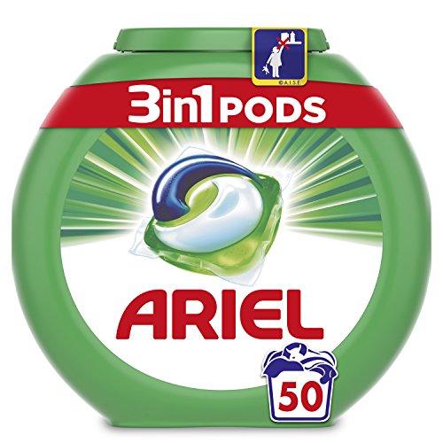 Ariel 3en1 Pods, Detergente en Cápsulas, Original, 50 Lavados, Limpieza Increíble,...