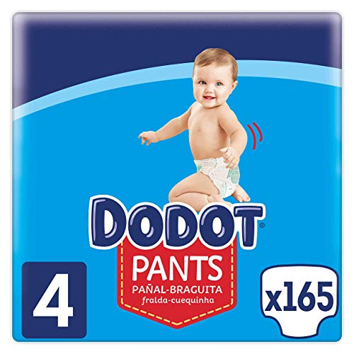 Dodot Pañales Bebé Pants Talla 4 (9-15 kg), 165 Pañales, Pañal-Braguita con...