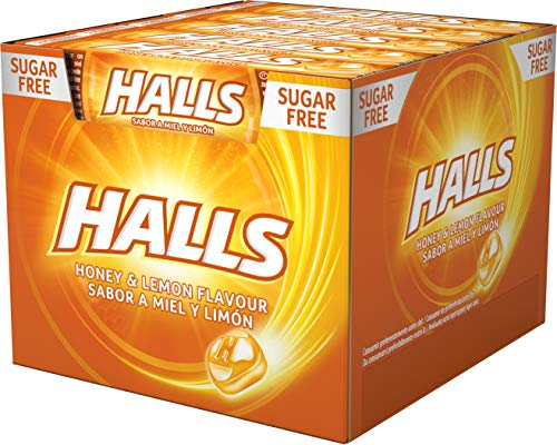 Halls Miel y Limón - Caramelo duro - Caja con 20 Sticks de 32 g