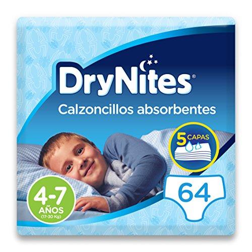 DryNites - Calzoncillos absorbentes para niño - 4 - 7 años (17-30 kg), 4 paquetes x...