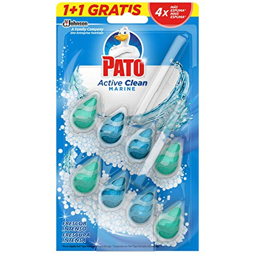 Pato - Active Clean colgador para inodoro, frescor intenso, perfuma y desinfecta,...
