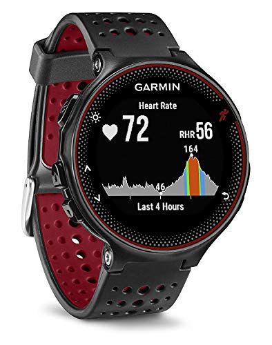Garmin Forerunner 235 - Reloj con pulsómetro en la muñeca, unisex, color negro y...
