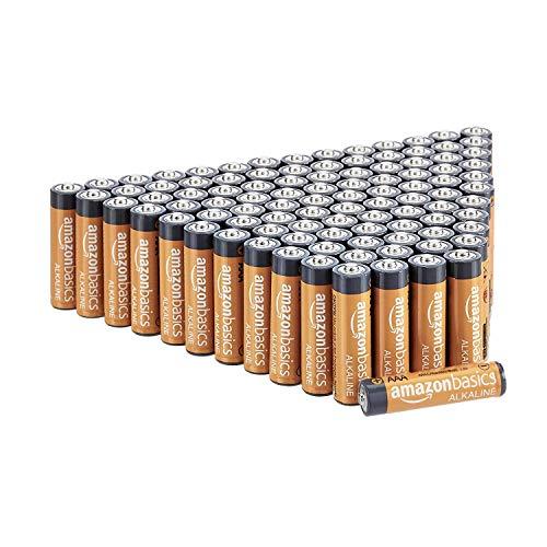 AmazonBasics - Pilas alcalinas AAA de 1,5 voltios, gama Performance, paquete de 100...