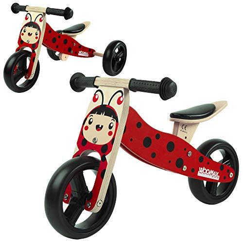 WOOMAX - Bicicleta sin pedales, Triciclo evolutivo, Bici sin pedales Madera, Triciclo...