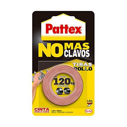 Pattex No Más Clavos Cinta, cinta adhesiva para aplicaciones permanentes, cinta de...