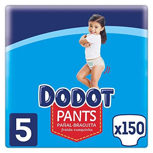 Dodot Pañales Bebé Pants Talla 5 (12-17 kg), 150 Pañales, Pañal-Braguita con...
