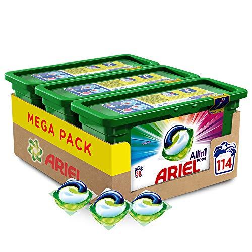 Ariel Allin1 Pods Color - Detergente en cápsulas para la lavadora, óptimo para...