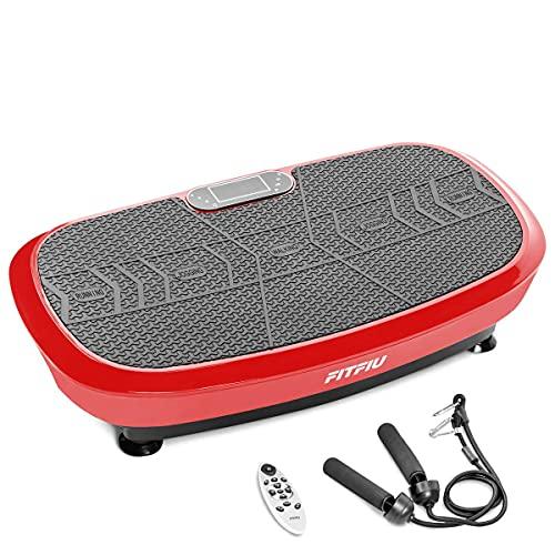 FITFIU Fitness PV-200 - Plataforma Vibratoria 3D color Rojo con movimiento en 3...