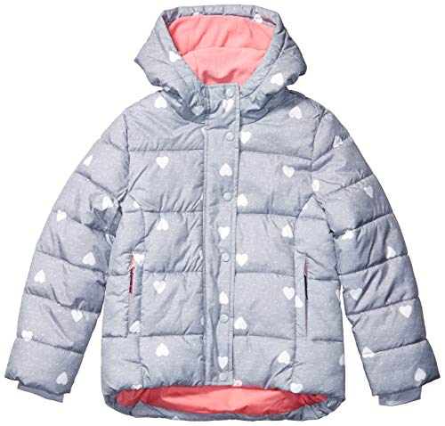 Amazon Essentials Heavy-Weight Hooded Puffer Coat Dress-Coats, Heather Grey with...