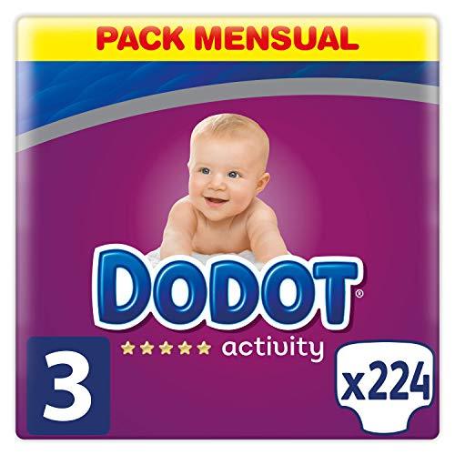 Dodot Activity Pañales Talla 3, 224 Pañales, 6-10kg