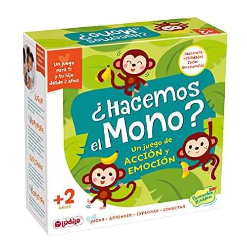 Lúdilo - ¿Hacemos el mono?, Juegos educativos niños 2 años, Jugar en familia,...