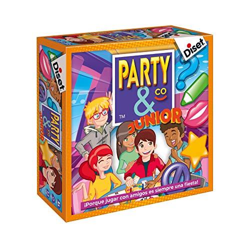 Diset- Juego Party & co Junior, Juego de mesa infantil multiprueba a partir de 8...